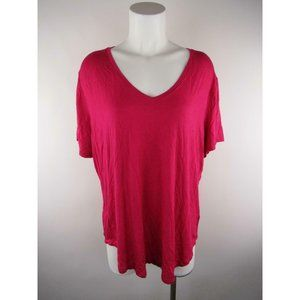 Old Navy Solid Rayon Spandex V-Neck T-Shirt Top